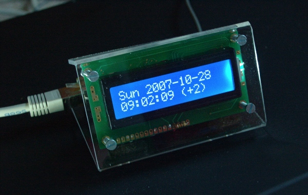 [NTP clock with polycarbonate case]